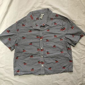 Forever 21 button up cherry shirt